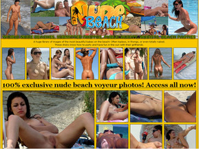 A huge library of images of the most beautiful babes on the beach! Often topless, in thongs, or even totally naked.
