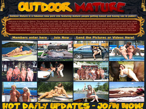 Welcome to the Outdoor Mature. This is a brand new public sex and nudity porn site featuring real private pictures of grown men and women being naked and having sex in public. This is shocking, fun and very rare. We get our pictures from nudists around the world. Sometimes people just give them us and sometimes we have to buy them. We keep Outdoor Mature updated daily and we do and will do whatever it takes to maintain this schedule. Inside Outdoor Mature member?s area you will find the most amazing collection of private public sex and nudity porn pictures featuring people from around the world stripping off their clothes and engaging in hardcore sex in parks, beaches and even stores around the world. You?ll see girls flashing their hot boobs, round asses and juicy pussies and men showing off huge to tiny cocks in public. This is just too much fun and all these pictures are 100% real people doing what they love to do best, strip and fuck in public. Join us right now and have fun guys!
